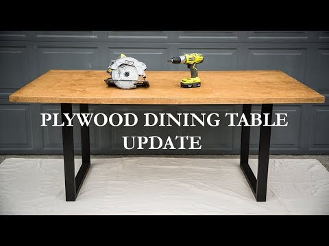 UPDATE - DIY Plywood Dining Table
