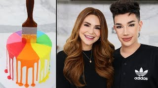 Making A Paint Drip Cake w/ James Charles!