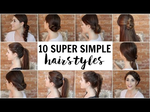 10 Simple Hairstyles Anyone Can Do