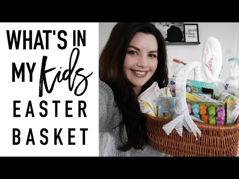 What's in my Kid's Easter Basket | EASTER GIFT IDEAS