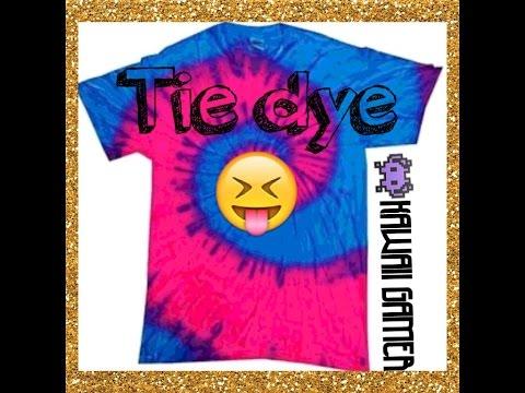 DIY swirly tie dye T-shirt design
