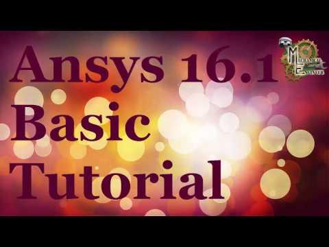 Ansys 16 .1 Basic Tutorial in HIndi