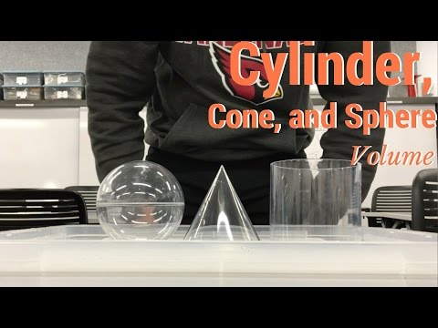 Cylinder, Cone, and Sphere Volume