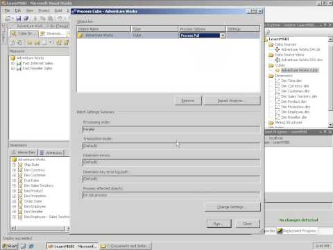 SSAS 106   Basic Deploying, Processing, and Browsing