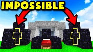 IMPOSSIBLE MINECRAFT OBSIDIAN TRAP TROLL! (Minecraft BED WARS)