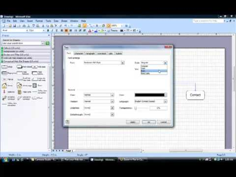 How to Create a Sitemap in Microsoft Visio 2007
