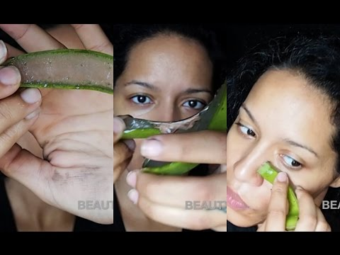 How to Get FIRM & CLEAR Acne-Free Skin NATURALLY by using ALOE VERA GEL from the LEAF