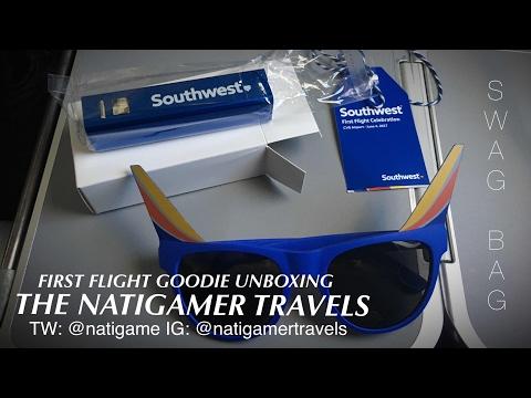 Southwest Airlines Inaugural Flight from Cincinnati: Goodies Unboxing