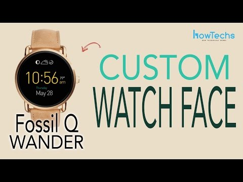 Fossil Q Wander - How to Change the Watch Face / Customize Watch Face