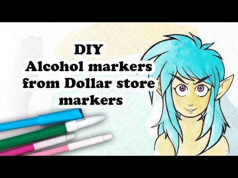 Make alcohol markers with Dollar store ones DIY