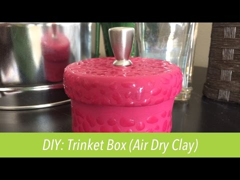 How to make: Trinket Box (Air Dry Clay)