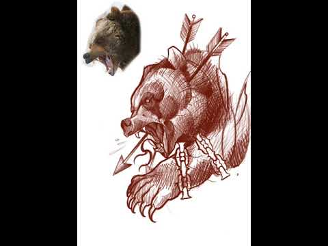 Bear - How to make a tattoo design in Photoshop