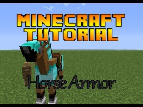 Horse Armour in Minecraft   Minecraft 1.6.1 Tutorial