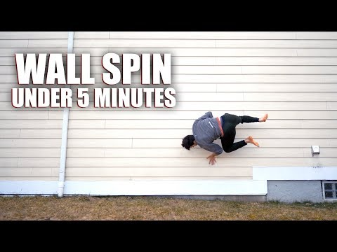 Learning Parkour - Teaching Myself How to: Wall Spin