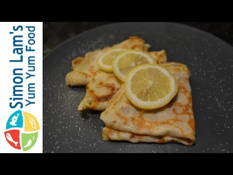 How to make English Pancakes | Shrove Tuesday Pancake Day| Simon Lam's Yum Yum Food