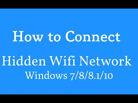 How to Connect/Join  to a hidden Wifi Network | Connect to hidden wifi in windows 7/8/8.1/10