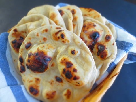Perfect Whole Wheat Naan on a tawa (with the pillow trick) (NO yeast)|Poonam's Kitchen