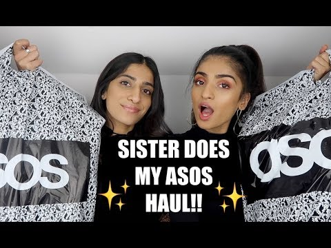 SISTER DOES MY ASOS HAUL + SPENDS OVER £300!!! | Kim Mann