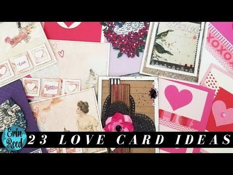 23 Valentine Handmade Card Ideas from a Swap