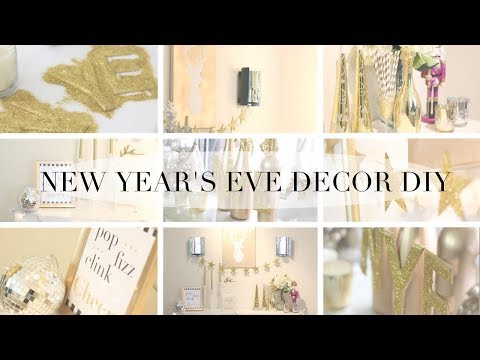 Easy DIY New Year's Eve Party Room Decor & Accessories! |2017-2018