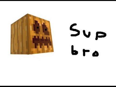 Minecraft A TALKING PUMPKIN! (with command blocks)