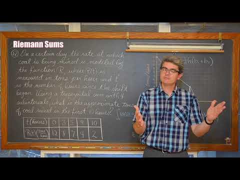 Riemann Sum AP Calculus Review Pt 6 (2 Examples)
