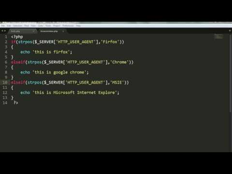 Learn php step by step | Get Browser name with php | PHP
