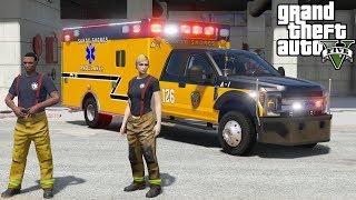 GTA 5 Firefighter Mod New Davis Fire Department Ladder Engine Rescue