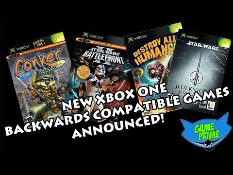 New Xbox One OG Xbox Backwards Compatible Games Announced! Conker! Star Wars! Release Dates in Bio!