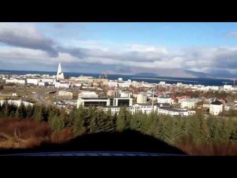 Utsikt over Reykjavik fra Perlan
