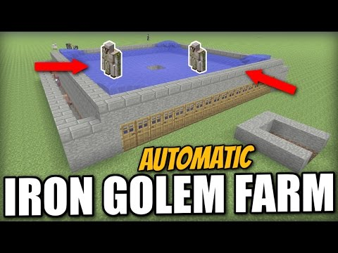 Minecraft - AUTOMATIC IRON GOLEM FARM - Tutorial - PS4 / PE / Xbox / PS3 / Wii U
