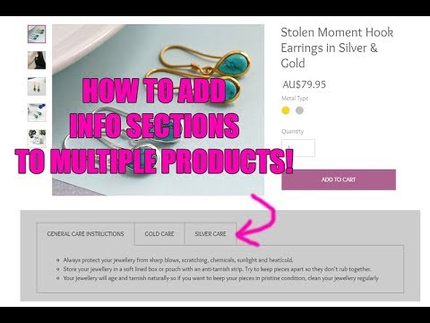 HOW TO ADD INFO SECTIONS TO MULTIPLE PRODUCTS - in Wix Ecommerce websites