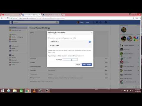 How to change facebook profile name into stylish font