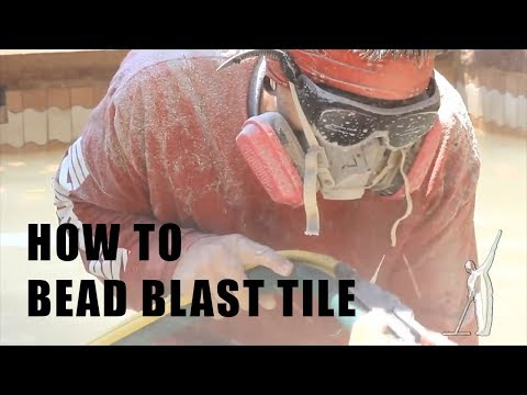 How to Bead Blast Tile - Ultimate Pool Guy HD w/ Multi-Tork !!!
