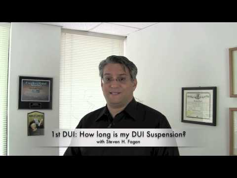 First DUI: How long is my Illinois Driver's license suspension? Chicago DUI Lawyer Steve Fagan