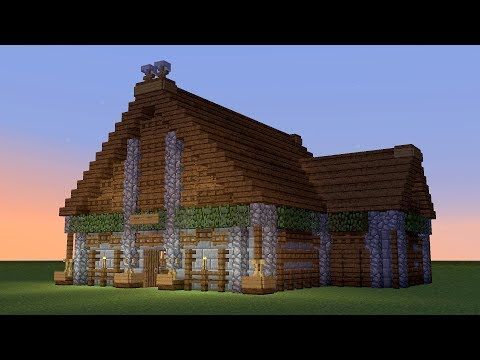 MINECRAFT: How to build a wooden tavern #2