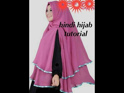 [Hindi ]how to cutting and stitching layered designing hijab tutorial english subtitles