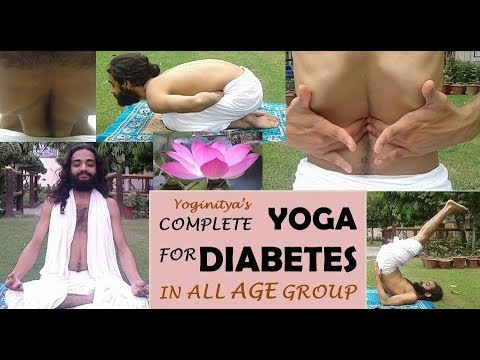 Diabetes Yoga | Complete Package of Yoga For Diabetes type 1 & 2 by Nityanandam Shree