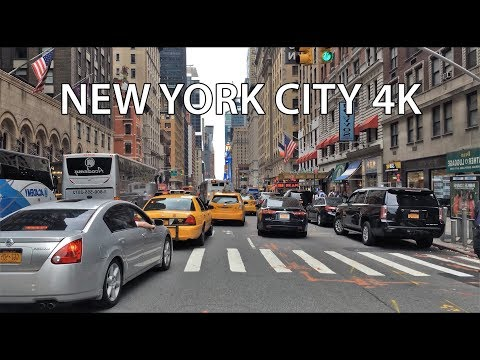 Driving Downtown - NYC's Times Square 4K - USA