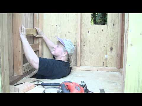 Hobbit Hole Playhouse Part 3 of 5: Second floor and ladder rungs