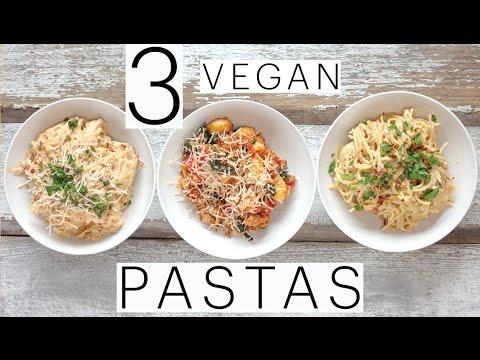 3 EASY VEGAN PASTA RECIPES   Vegan Carbonara   VEGAN Alfredo   Spinach & Sausage Gnocchi   Edgy Veg