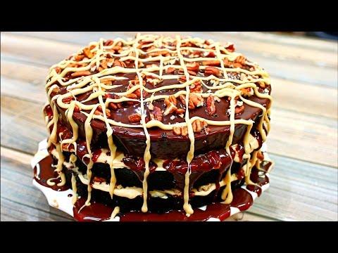 Chocolate Turtle Cake Recipe (Chocolate Cake With Caramel Filling)