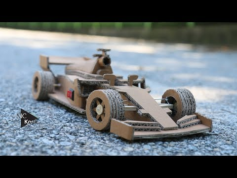 How to make Amazing F1 Racing Car(Ferrari) - Cardboard DIY