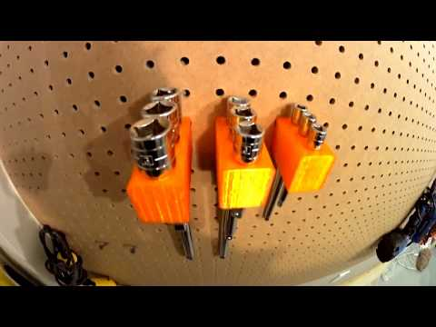 Pegboard socket extension holder 1/2  3/8 and 1/4 inch Mastercraft
