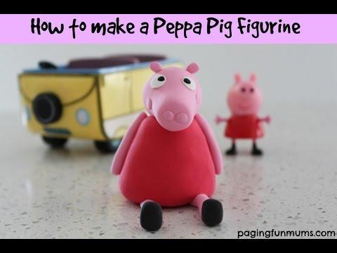 How to make a Peppa Pig Figurine Tutorial