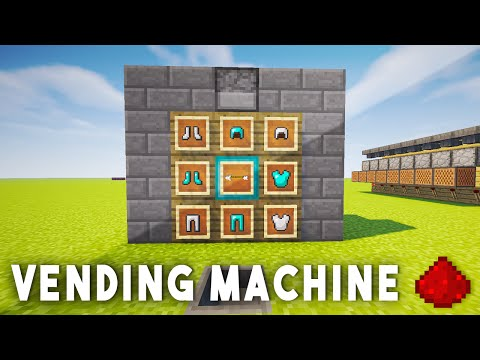 REDSTONE VENDING MACHINE - Minecraft Redstone Tutorial (MCPE, Xbox One, 360, Wii U, PS3, PS4)