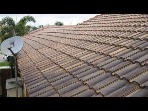 Non-Pressure Chemical Tile Roof Cleaning Delray Beach, FL 561-781-4297
