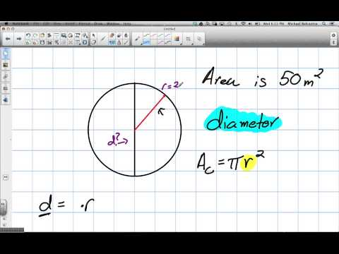 Finding the Diameter of a Circle (Grade 9 Academic Lesson 9.2 2 27 13)