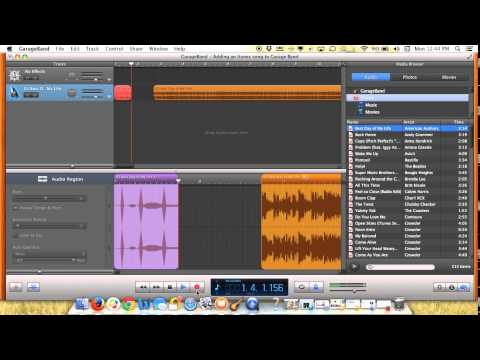 Adding an itunes track to Garage Band
