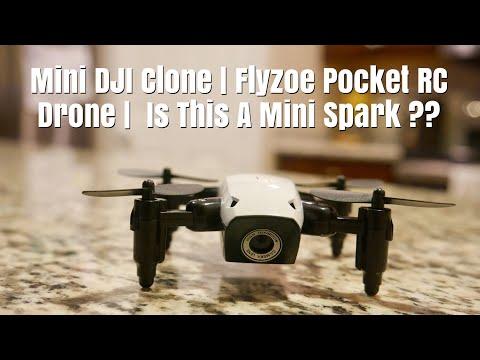 DJI Mini Spark Clone | FLYZOE Pocket RC DRONE | 6-Axis Gyro WIFI FPV Quadcopter 720P